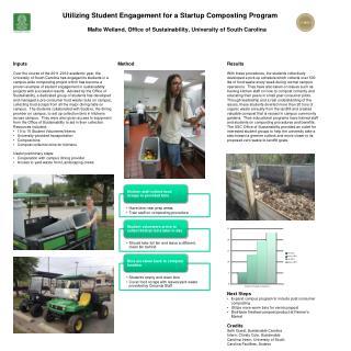 Utilizing Student Engagement for a Startup  Composting Program