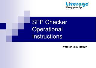 SFP Checker Operational Instructions