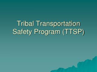 Tribal Transportation Safety Program (TTSP)