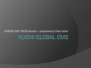 Kuoni global cms