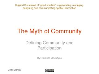 The Myth of Community