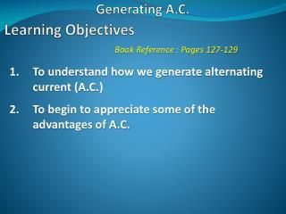 Generating A.C.