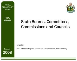 State Boards, Committees, Commissions and Councils