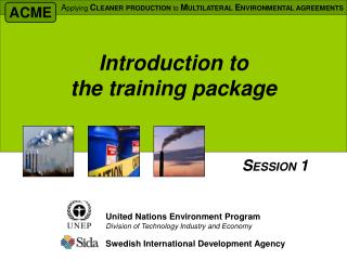 Introduction to  the training package