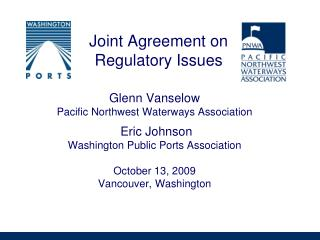 Joint Agreement on Regulatory Issues
