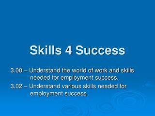 Skills 4 Success