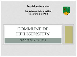 Commune de HEILIGENSTEIN