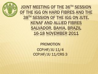 PROMOTION CCP:HF/JU 11/4 CCP:HF/JU 11/CRS 3