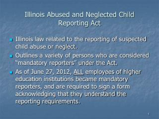 Illinois Abused and Neglected Child Reporting Act