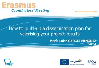 How to build-up a dissemination plan for valorising your project results