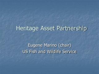 Heritage Asset Partnership