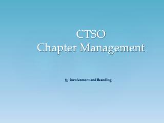 CTSO Chapter Management