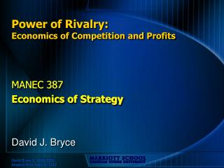 Power of Rivalry: Economics of Competition and Profits