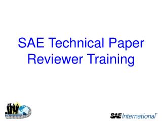 SAE Technical Paper  Reviewer  Training