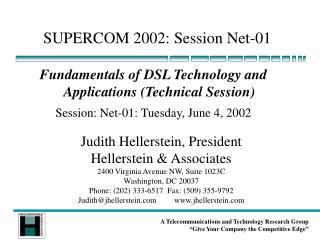SUPERCOM 2002: Session Net-01