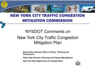 NEW YORK CITY TRAFFIC CONGESTION MITIGATION COMMISSION