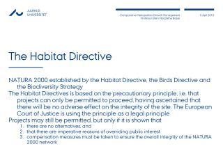 The Habitat Directive