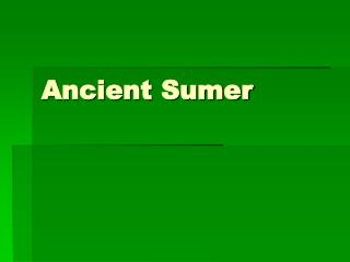 Ancient Sumer