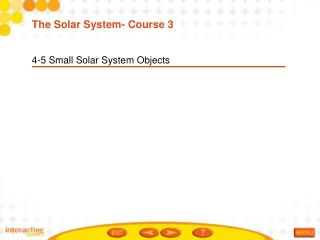 4-5 Small Solar System Objects