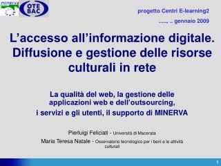L'accesso all'informazione digitale. Diffusione e gestione delle risorse culturali in rete