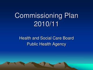 Commissioning Plan 2010/11