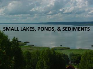 SMALL LAKES, PONDS, & SEDIMENTS