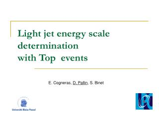 Light jet energy scale determination  with Top  events