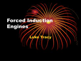 Forced Induction Engines