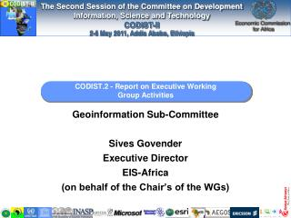 CODIST.2 - Report on Executive Working Group Activities