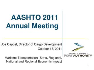 AASHTO 2011 Annual Meeting