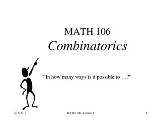 MATH 106 Combinatorics