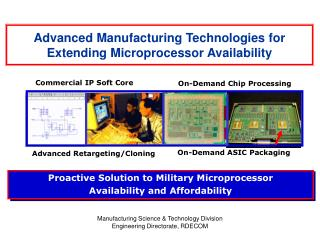 Advanced Manufacturing Technologies for Extending Microprocessor Availability