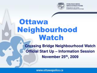 Ottawa  Neighbourhood          Watch