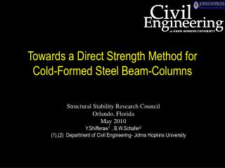 Towards a Direct Strength Method for Cold-Formed Steel Beam-Columns