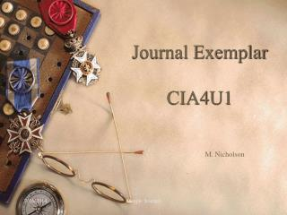 Journal Exemplar CIA4U1