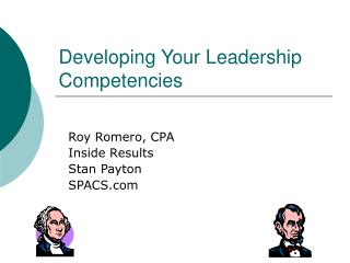 Developing Your Leadership Competencies