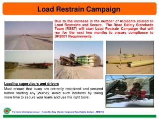 Load Restrain Campaign
