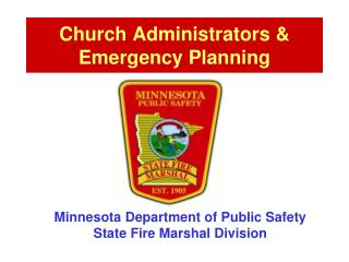 Church Administrators & Emergency Planning