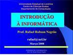 Universidade Estadual de Londrina Centro de Ci ncias Exatas Departamento de Computa  o