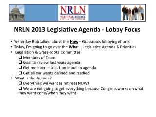 NRLN 2013 Legislative Agenda - Lobby Focus