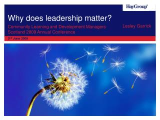 Why does leadership matter?
