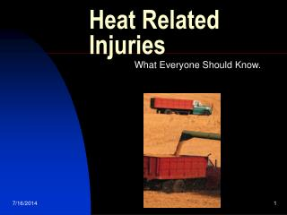 Heat Related Injuries