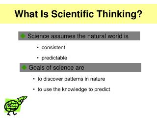 What Is Scientific Thinking?