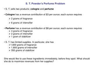 S. T. Powder's Perfume Problem