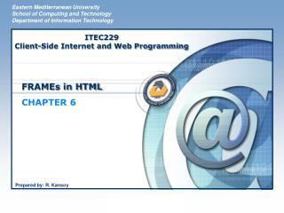 FRAMEs in HTML