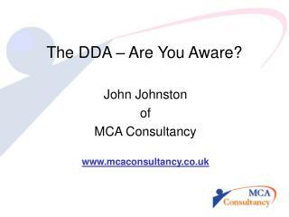 The DDA   Are You Aware
