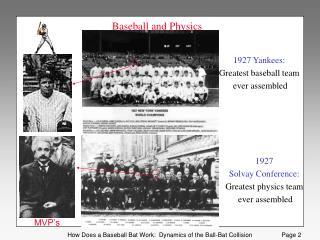 Baseball and Physics