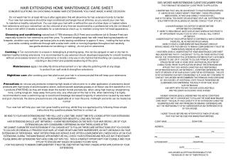 100% WICKED HAIR EXTENSIONS CLIENT DISCLAIMER FORM