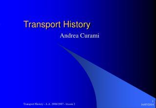 Transport History