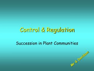 Control & Regulation